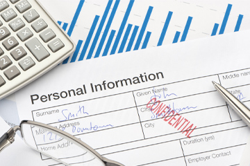 Confidential, personal information forms 360x240