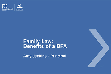 Family Law - BFA - Cover page 360x240