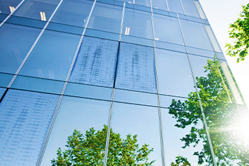 Glass building trees property 360x240