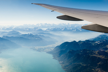 Travel Plane background mountains 360x240